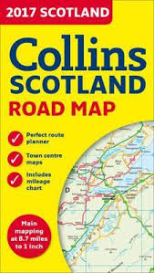 2017 Collins Map Of Scotland Collins Maps 9780008158590
