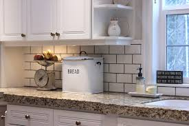will break diy rules for subway tile forevercottage subway tile backsplash with dark grout simple design white