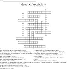 Genetics Crossword Puzzle Wordmint