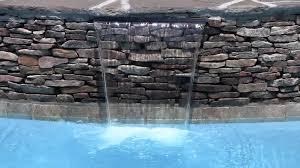 Diy Pool Waterfall Spa Spillway Waterfall From Backyard Oasis Pools Raleigh Nc