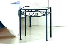 wrought iron side table wrought iron bedside table glass top bedside table wrought iron bedside table