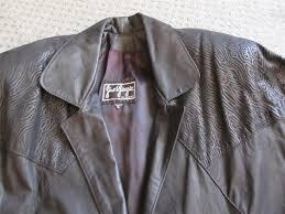 gino di giorgio black leather jacket coat 3