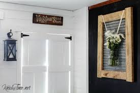 a farmhouse frame with an industrial vibe knickoftime net