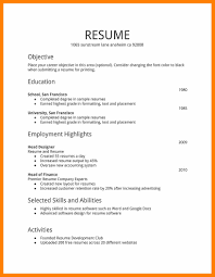 First Resume Template 24 First Job Resume Templates Actor Resumed 17
