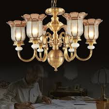 antique 6 light glass shade solid brass chandeliers for bedroom regarding awesome home brass glass chandelier designs