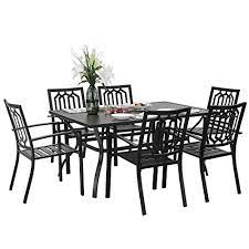 7 piece metal outdoor patio dining