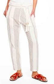 Ael Stripe Pants By Antik Batik Cream Rockmelon