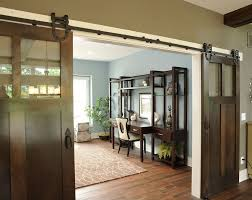 office barn doors. industrial barn door home office traditional with dark floor wood flooring doors