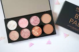 new makeup revolution blush contour palette in golden sugar