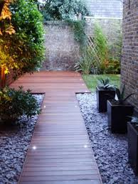 Small Picture Decking Balau hardwood Purple Slate Landscape Garden Design and