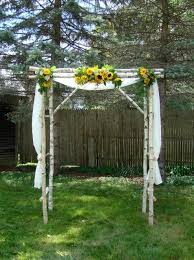 Decorating A Trellis For A Wedding Sunflower Weddings Ultra Rustic Beutiful Canopy In Real Tree