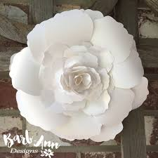 How To Make Paper Flower Backdrop White And Cream Large Paper Flower Backdrop Barb Ann Designs