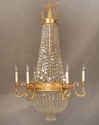 a stunning late 19th century gilt bronze and crystal russian style chandelier