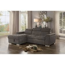 Image Chaise Couch Taupe Sectional Sofa With Pullout Sofa Bed And Leftside Storage Chaise Ferriday Rc Willey Furniture Store Rc Willey Taupe Sectional Sofa With Pullout Sofa Bed And Leftside Storage