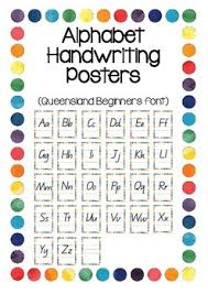 Queensland Cursive Alphabet Chart Alphabet Letters Queensland Cursive Worksheets Teaching