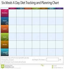 Meal Tracking Diet Tracking Chart Stock Vector Illustration Of Background