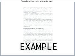 What Is An Cover Letter Advisor Cover Letter Financial Advisor Cover