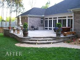 raised concrete patio how to cover a with awesome backyard ideas much does c