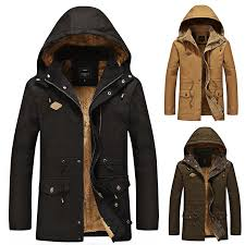 <b>Winter</b> men's down jacket hooded warm plus cotton thick windproof ...