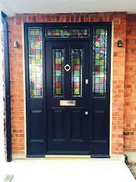 stained glass front doors black entrance door with stained decorative glass stained glass exterior doors for