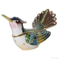 2019 hummingbird with fanned tail trinket box jewelry organizer necklace holder bird decoration gifts for from jiayouco 9 05 dhgate