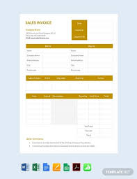 Free Sales Invoice Free Sales Invoice Template Pdf Word Excel Apple