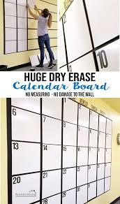 diy huge dry erase calendar board