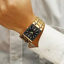 <b>Men Watches</b> Top Brand Luxury WWOOR Gold Square <b>Quartz</b> ...