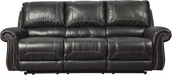 Ashley Furniture Milhaven Reclining Sofa in Black