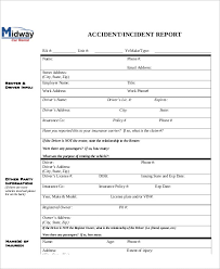 what is an incident report sample accident incident report 6 examples in pdf word