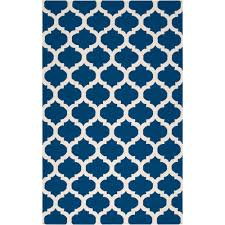 artistic weavers trondheim royal blue 5 ft x 8 ft flatweave area rug