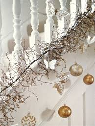 The Best DIY and Decor: White Christmas Stairway: I like the garland at the  bottom rather than the railing.