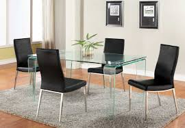 cool dining room tables. Modern-expandle-glass-dining-table-and-black-dining- Cool Dining Room Tables