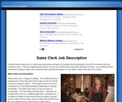 Salesclerkjobdescription.com: A Sales Clerk Job Description and ... salesclerkjobdescription.com: A Sales Clerk Job Description and How to Find Work as a