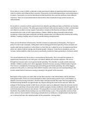 fiscal policy study resources 3 pages bullshit econ fiscal policy whatnot essay