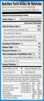 splenda original chocolate chip cookies 18 2 oz tray nutrition facts