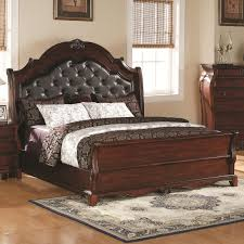 king bed leather headboard.  Headboard Priscilla California King Headboard And Footboard Bed By Coaster Throughout Leather M