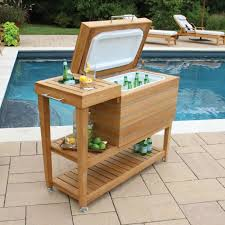 teak cooler and drink stand country