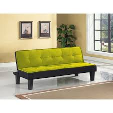 Color Block Futon Adjustable Sofa, Multiple Colors