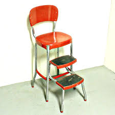 cosco stool retro chair with step stool retro kitchen step stool chair with 9 capable photo