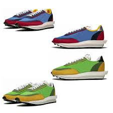 2019 New Unisex Design Sneakers Sacai Ldv Waffle Daybreak Running Shoes Luxury Trainers With Box Green Gusto Varsity Blue Size 36 45 Womens Running