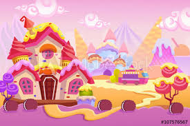 creative ilration and innovative art background set 1 ice cream town realistic fantastic