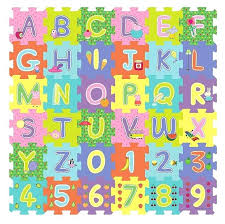 peppa pig abc and 123 foam floor cube puzzle 36 piece childrens puzzle piece flooring puzzle