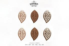 tear drop svg pendant svg earrings bundle leather
