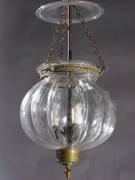 cut glass onion bell jar lantern