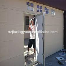 residential sectional automatic garage doors with pedestrian door