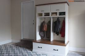 Mudroom Coat Rack Adorable Mudroom Lockers With Bench Free DIY Plans