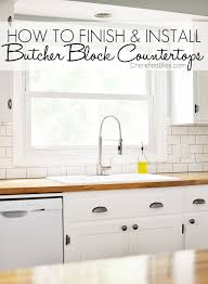 how to finish and install butcher block countertop cherished bliss with 6 ft plans 49