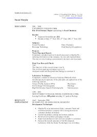 Science Resume Writing Service Food Service Sample Resume Jobsxs Com