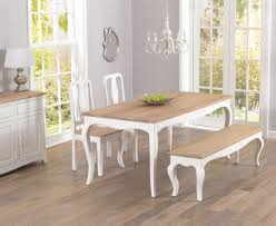 table 2 chairs and bench. parisian 175cm shabby chic dining table with chairs and benches 2 bench s